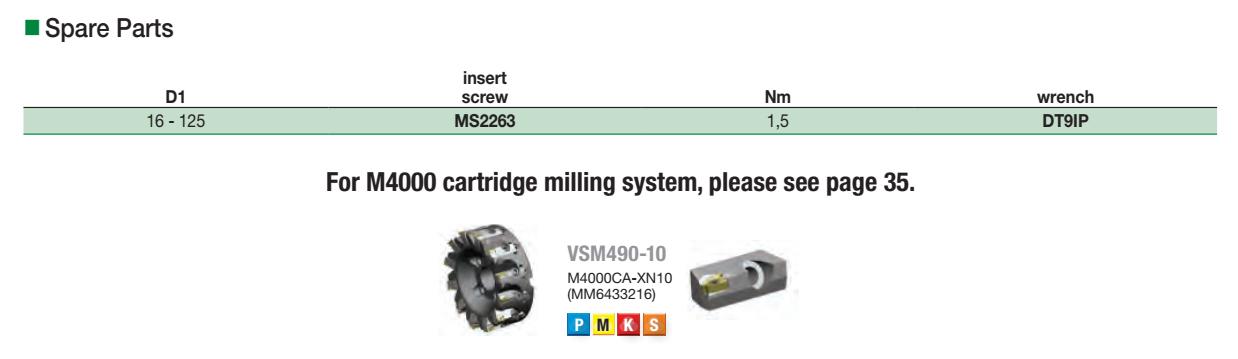 VSM490-10: Spare Parts